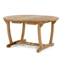 Martinique Teak Oval and Round Extendable Patio Di ...