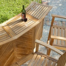 Westminster Teak Bar And Stool Set 4