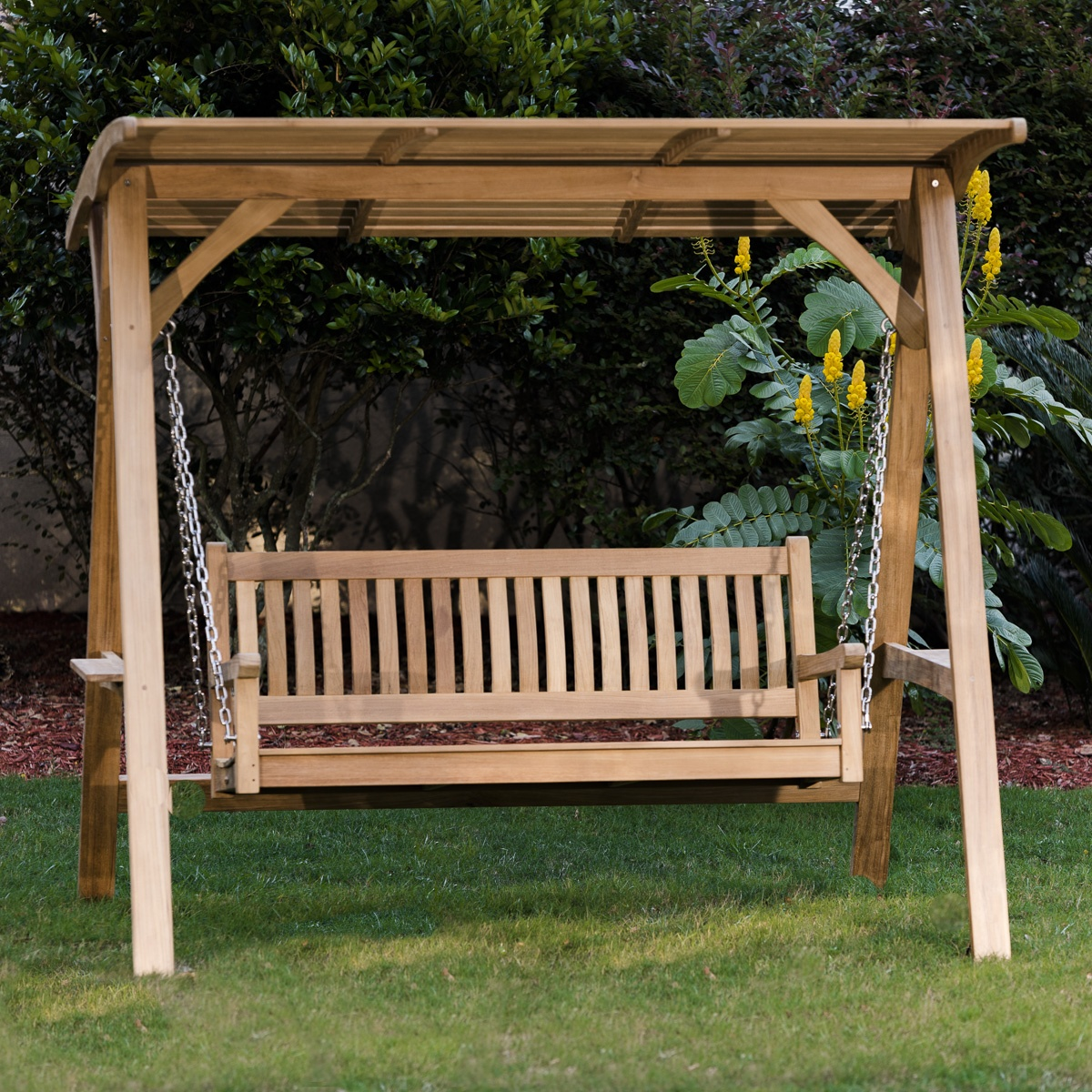 swing chair thailand oak slat back dining chairs bench 28 images outsunny 3 seater garden