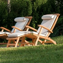 Teak Steamer Chair Foldable Cushion Barbuda Classic Rated Best Over