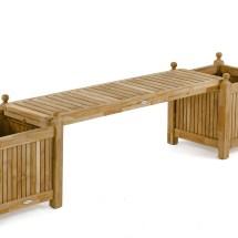 Teak Planter Bench Set - Westminster Outdoor Furniture