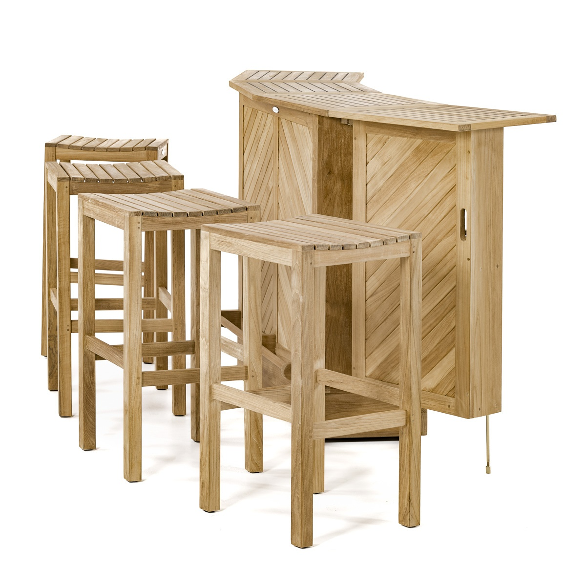 teak bar table and chairs cesca chair replacement seats uk backless stool set westminster