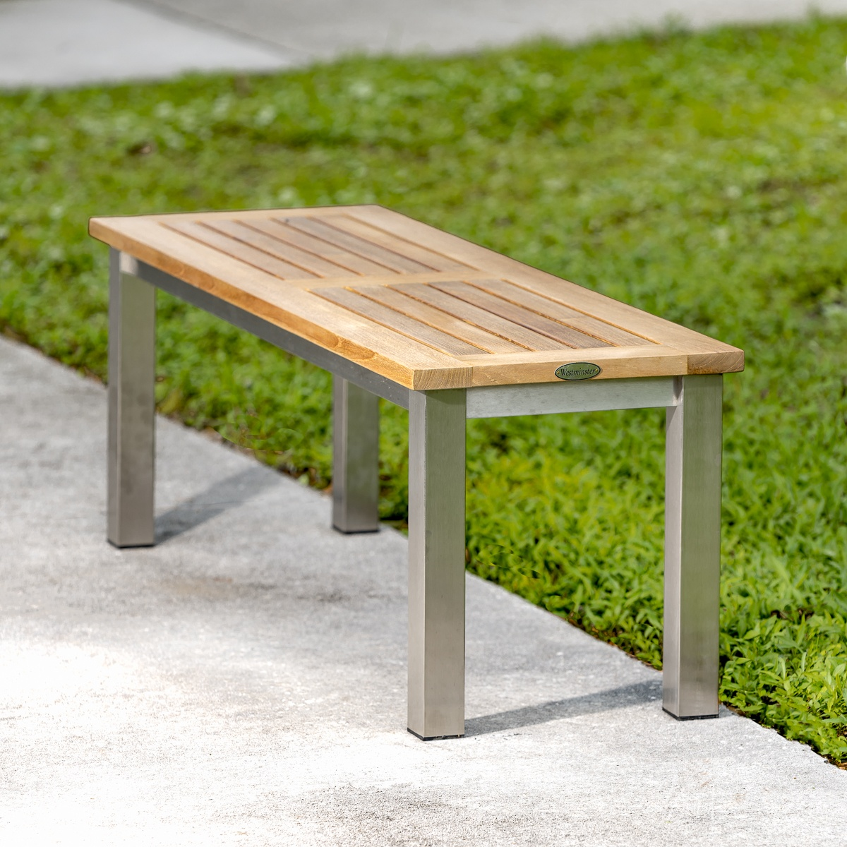 stainless steel outdoor table and chairs double recliner teak benches westminster
