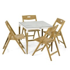 Teak Folding Chair Patio Dining Cushions Bloom Square Surf Set Westminster 70612
