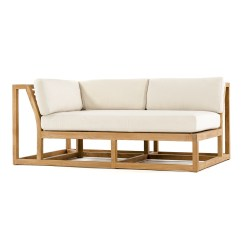 Teak Outdoor Sofa Armrest With Cup Holder Maya Sectional Westminster