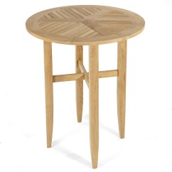 Teak Bar Table And Chairs Baby Throne Chair Laguna 36in Diameter Round Outdoor Pu