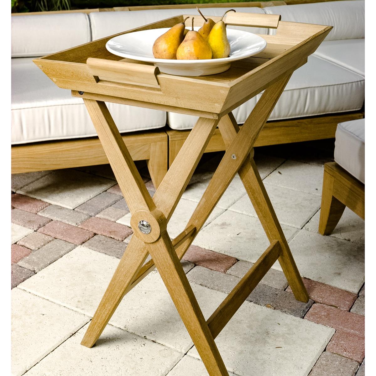 Folding Teak Wood Tray Table Westminster Teak Outdoor Furniture
