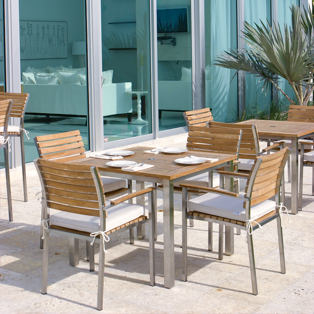 teak steamer chair resin wicker patio table and chairs stainless steel dining set - westminster outdoor furniture