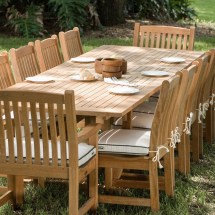 Pc Grand Veranda Teak Dining Set Westminster