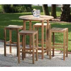 Teak Bar Table And Chairs Power Wheelchair Controller 5 Pc Backless Pub Set Westminster