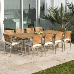 Stainless Steel Outdoor Table And Chairs Cow Print Chair Covers Teak Westminster