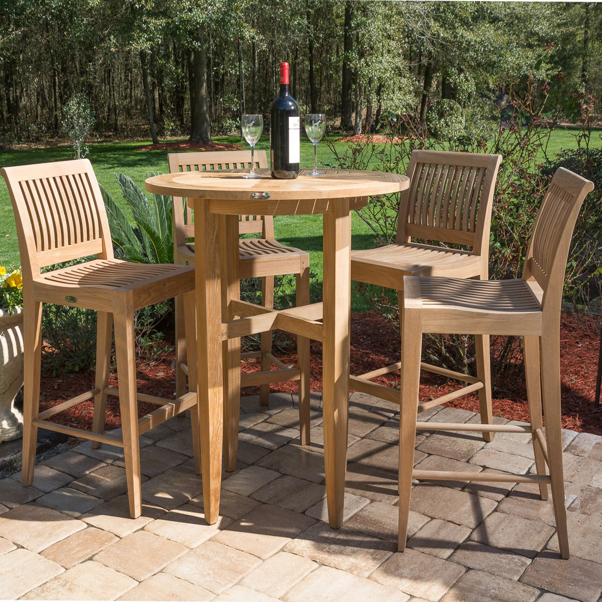 teak bar table and chairs chinese rosewood dining laguna stool set westminster