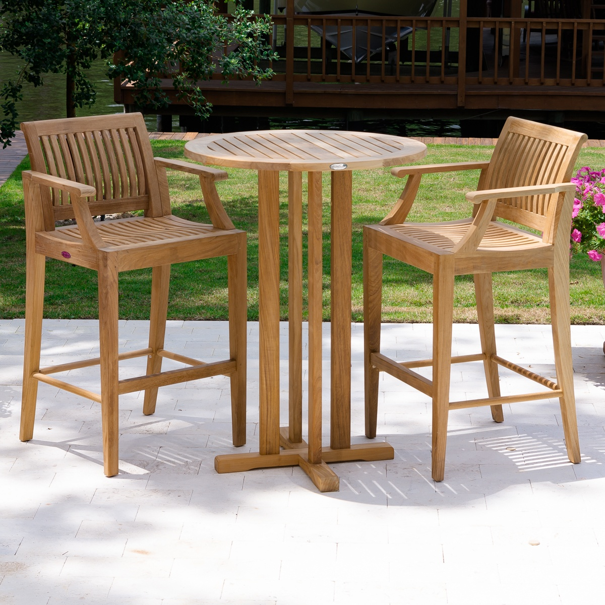 teak bar table and chairs child s asda furniture westminster outdoor