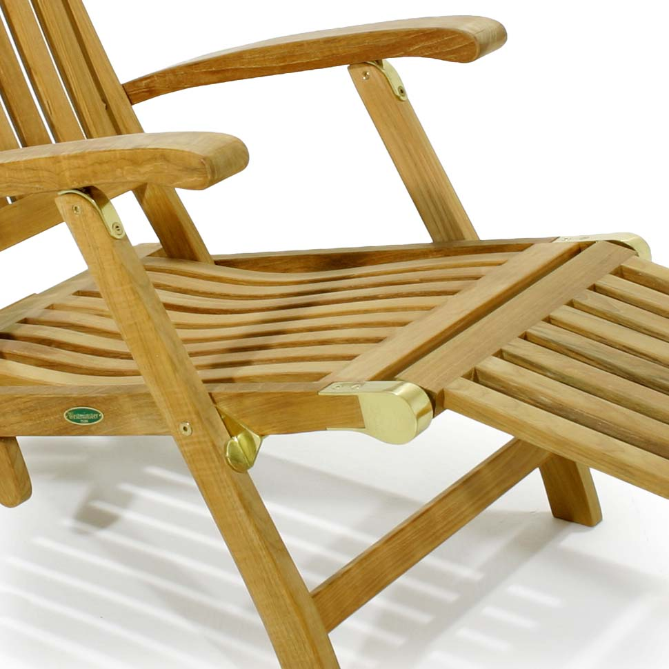 teak steamer chair ethan allen barbuda classic rated best over westminster attached footrest