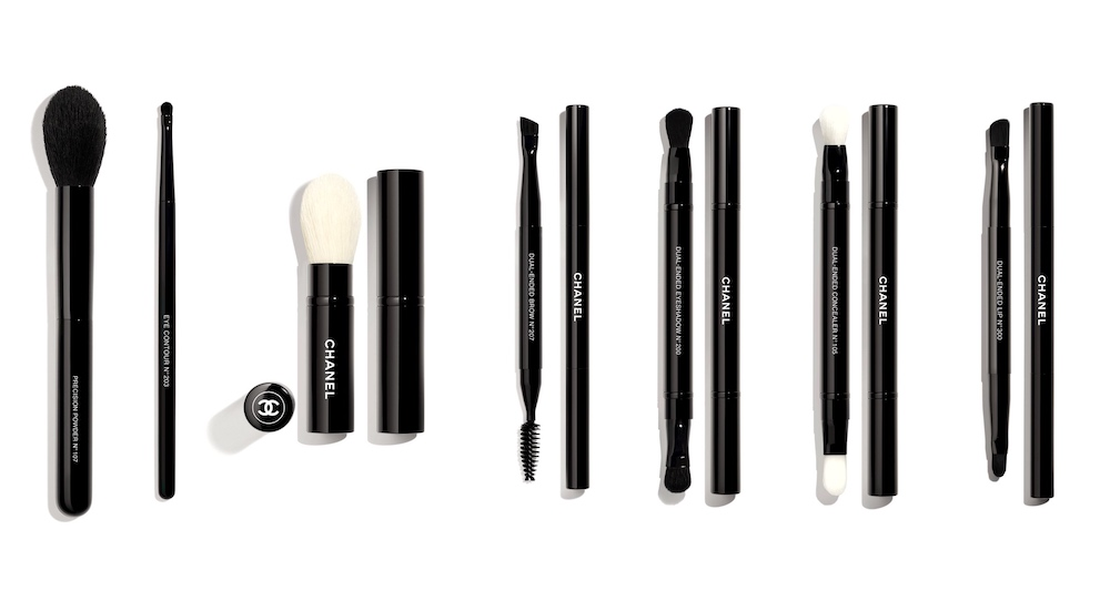 brushes used for the CHANEL Haute Couture SS21 Beauty Look