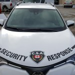 image of the CSA Security Response Vehicle Wrap - Hood