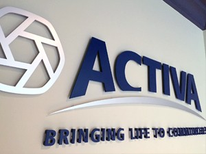 image of the Customized Acrylic Sign for Activa Reception Area
