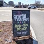 A-Frame Sign for Graffiti Market