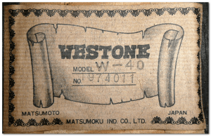 westone w40 acoustic label