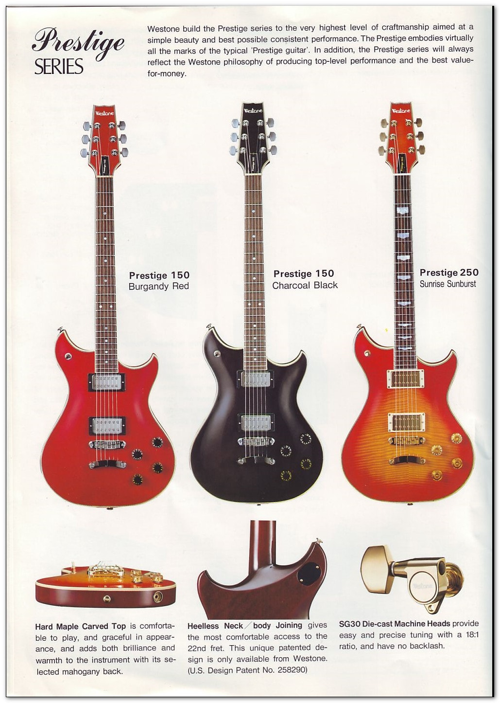 19823 Catalogue  1983 US Price List  Westone Guitars