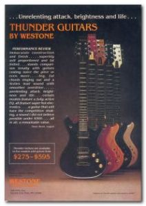 Westone Thunder Series Ad -USA THUMB