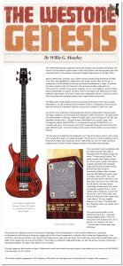 genesis bass review Vintage Guitar Feb2009