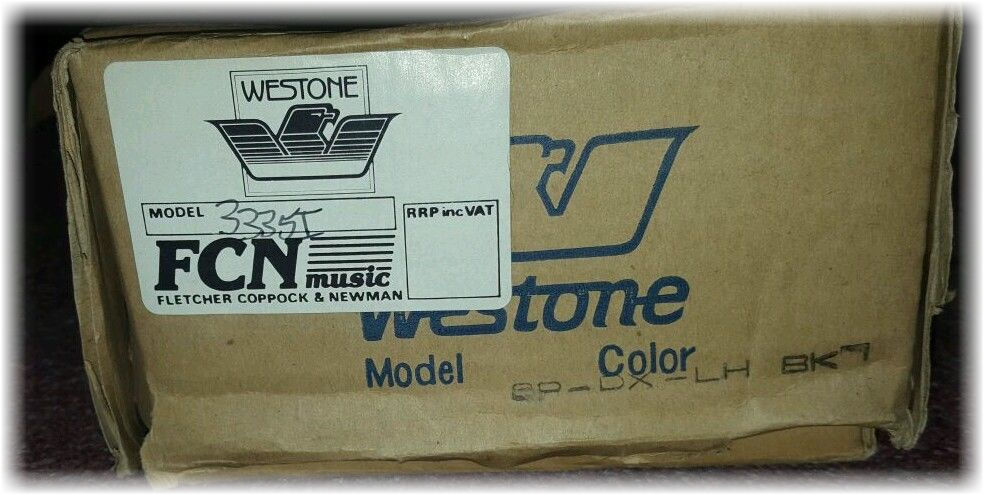 westone spectrum RH original cardboard box w-FCN label