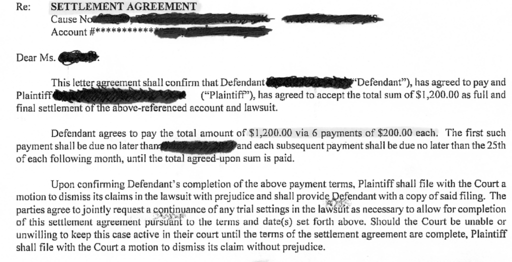 """______________ with a mailing address of______________, city of______________, state of______________ shall be known as the """"creditor"""". Debt Settlement Agreement Weston Legal Pllc"""