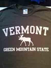 Green Mountain State Moose T-Shirt