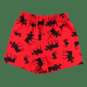 Red Classic Moose | Unisex PJ Boxers
