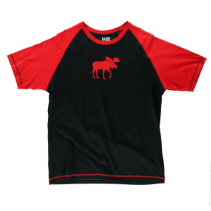 Red Classic Moose | Unisex PJ Shirts