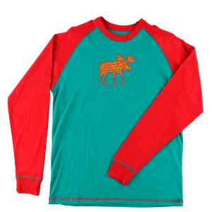 Pattern Moose | Unisex PJ Shirt