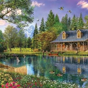 Mountain Cabin 1000 pc.