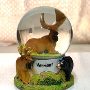 Moose and Black Bear Snowglobe