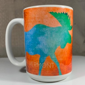 Vermont Moose (Blue) Coffee Mug)