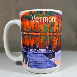 Vermont Lakeview in Fall Coffee Mug