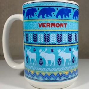 Vermont Blue Moose and Bear Coffee Mug