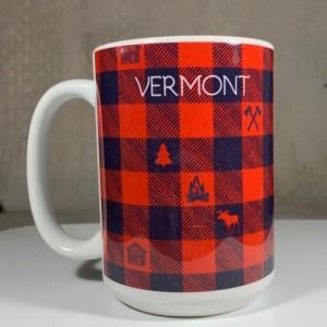 Vermont Red Checkered Coffee Mug