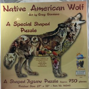Native American Wolf Shaped 750 pc.