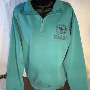 Vermont Moose Emblem Quarter Zip Sweatshirt