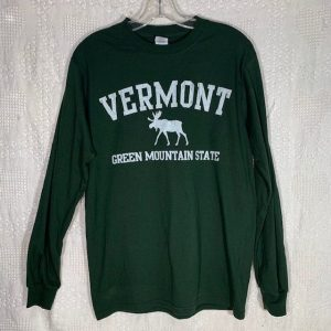 Vermont Green Mountain Moose Long-Sleeve Shirt