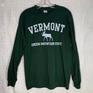 Vermont Green Mountain Moose Long-Sleeve Shirt