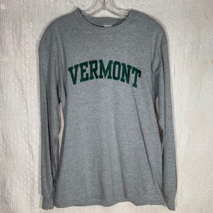 Green and Grey Vermont Long-Sleeve Shirt