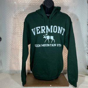 Vermont Green Mountain Moose Hooded Sweatshirt