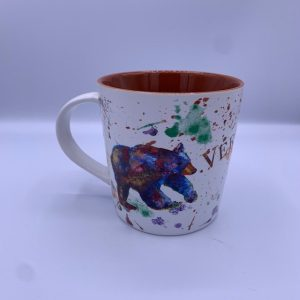 Vermont Splatter Paint Moose and Bear Mug