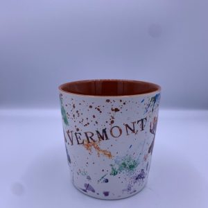 Vermont Splatter Paint Moose and Bear Mug