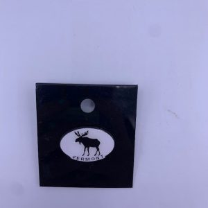 Vermont Black and White Moose Pin