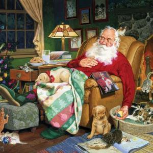 Santa's Naptime 1000 pc.