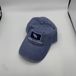 Vermont Moose in Square Denim Hat