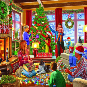 Decorating the Tree Puzzle 1000 pc.